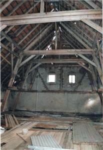 Alte Schäferei - Dachstuhl, Schmuckstück des Hauses